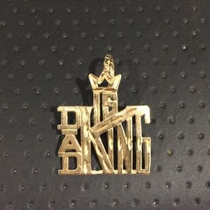 Jewelry - 14k Yellow Gold DAD IS KING 👑 Charm Pendant